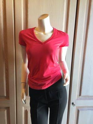 Hugo Boss T-Shirt Baumwolle XS, rot rose hellrot TOP