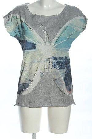 Hugo Boss T-Shirt hellgrau-blau meliert Casual-Look