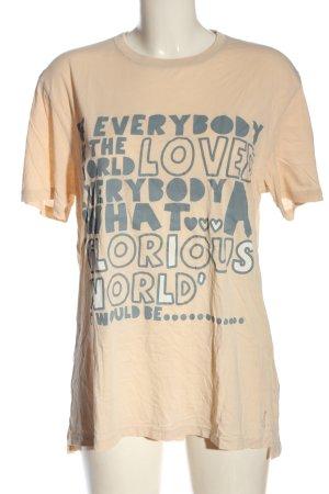 Hugo Boss T-Shirt nude Schriftzug gedruckt Casual-Look