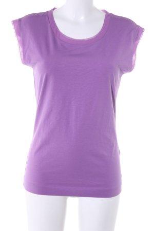 Hugo Boss T-Shirt lila Casual-Look