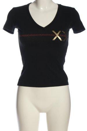Hugo Boss T-Shirt Schriftzug gedruckt Casual-Look