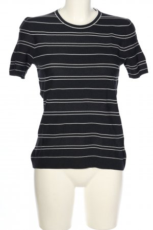 Hugo Boss T-Shirt schwarz-weiß Streifenmuster Casual-Look