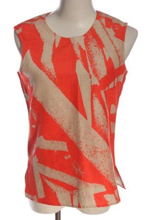 Hugo Boss Tanktop room-rood abstract patroon casual uitstraling