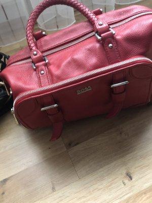 Hugo Boss Handbag red leather