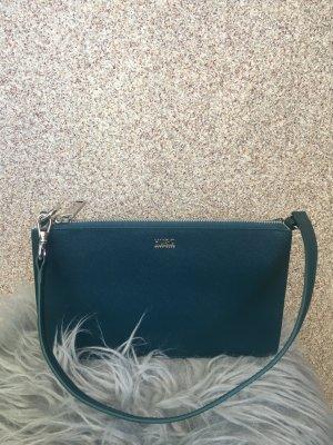 Hugo Boss Shoulder Bag steel blue leather