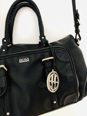 Hugo Boss Bolso negro-color plata Cuero