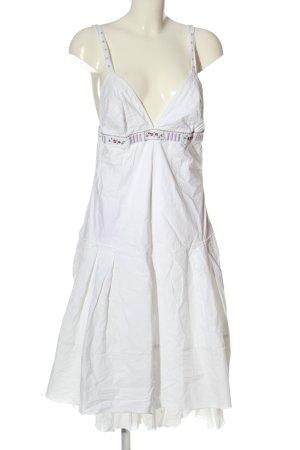Hugo Boss Trägerkleid weiß Elegant