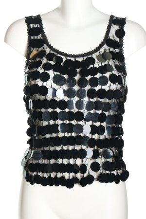 Hugo Boss Top met spaghettibandjes zwart Webpatroon elegant