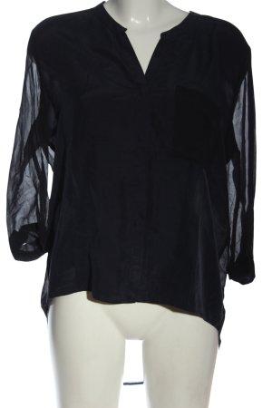 Hugo Boss Transparenz-Bluse schwarz Elegant