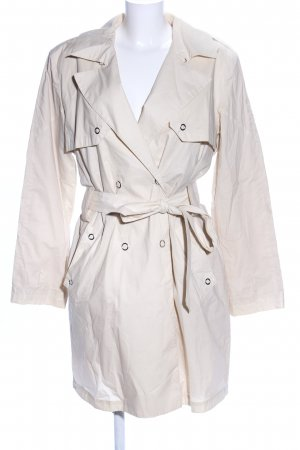 Hugo Boss Trenchcoat wolwit casual uitstraling
