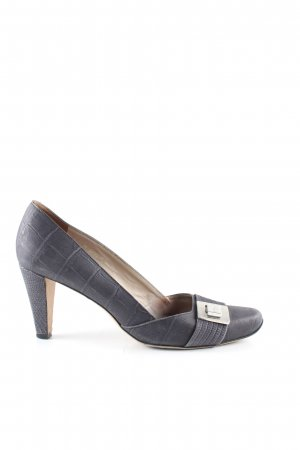 Hugo Boss Loafers blue-light grey animal pattern business style