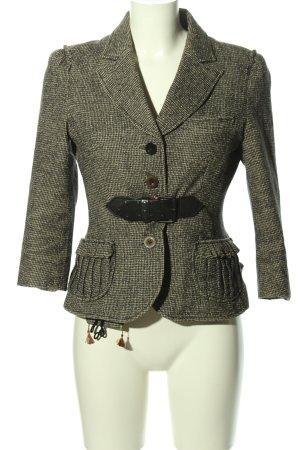 Hugo Boss Blazer in tweed nero-crema motivo a quadri stile casual