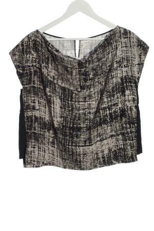 Hugo Boss Boatneck Shirt natural white-black abstract pattern casual look