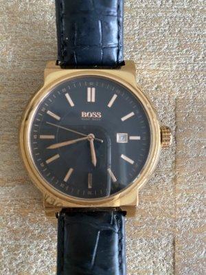 Hugo Boss Reloj con pulsera de cuero negro-color rosa dorado