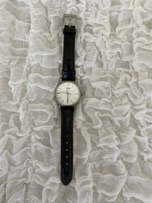 Hugo Boss Watch With Leather Strap black