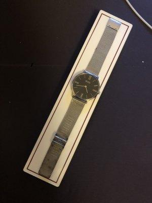 Hugo Boss Horloge met metalen riempje zilver-zwart