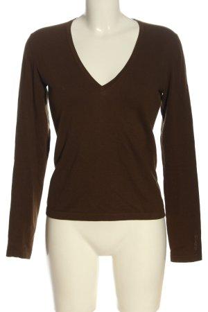 Hugo Boss Sweter z dekoltem w kształcie litery V brązowy W stylu casual