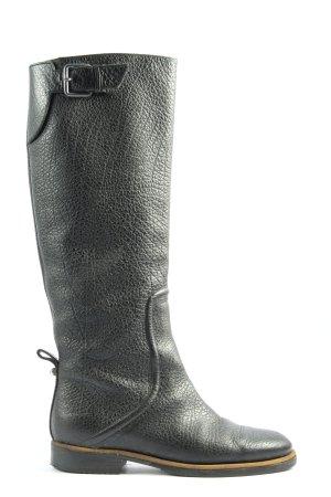 Hugo Boss Wide Calf Boots black casual look