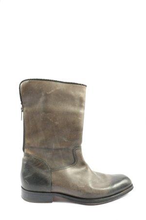 Hugo Boss Wide Calf Boots brown casual look