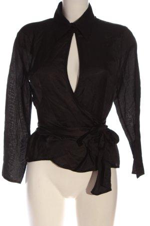 Hugo Boss Wraparound Blouse black elegant