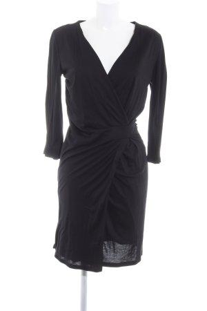 Hugo Boss Vestido cruzado negro estilo «business»