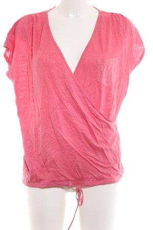 Hugo Boss Camisa cruzada rosa moteado look casual
