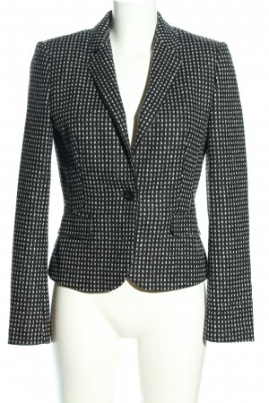 Hugo Boss Woll-Blazer schwarz-weiß grafisches Muster Business-Look