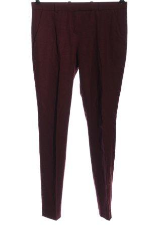 Hugo Boss Wełniane spodnie czerwony W stylu biznesowym