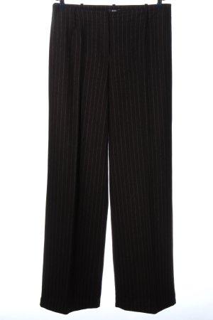 Hugo Boss Pantalón de lana negro estampado a rayas estilo «business»