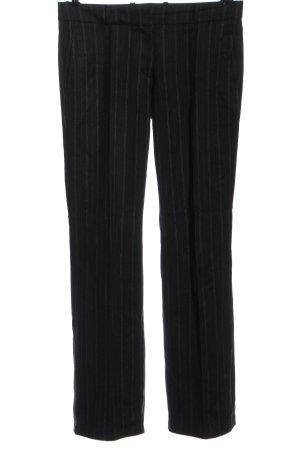 Hugo Boss Pantalón de lana negro estampado repetido sobre toda la superficie
