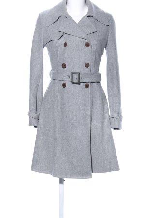 Hugo Boss Cappotto in lana grigio chiaro puntinato elegante