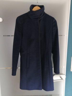 Hugo Boss Manteau en laine bleu foncé laine