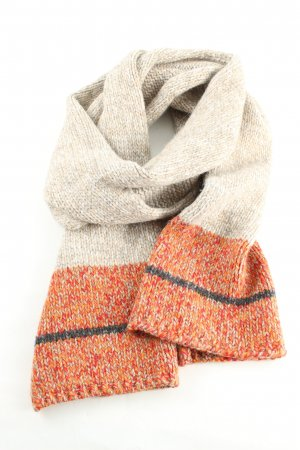 Hugo Boss Bufanda de lana naranja claro-blanco puro moteado look casual