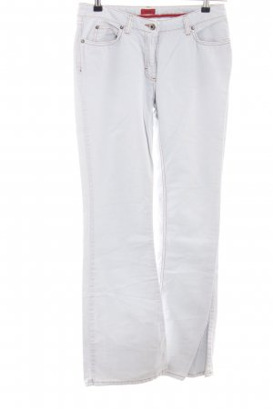 HUGO Hugo Boss Boot Cut Jeans weiß Casual-Look