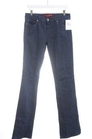 HUGO Hugo Boss Boot Cut Jeans blau Casual-Look