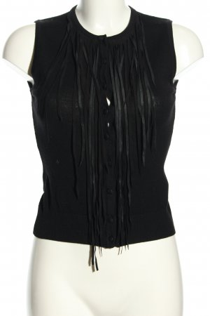HUGO Hugo Boss Fringed Vest black casual look
