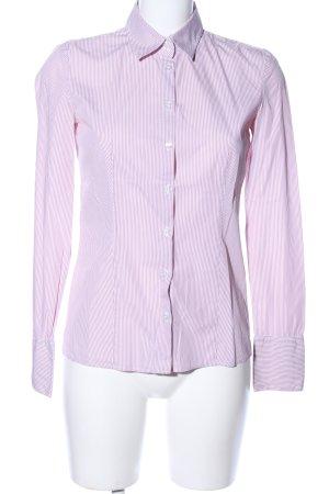 HUGO Hugo Boss Hemd-Bluse pink-weiß Streifenmuster Business-Look
