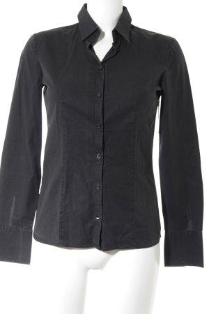 HUGO Hugo Boss Hemd-Bluse schwarz Business-Look