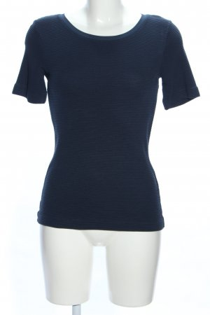 HUGO Hugo Boss Geribd shirt blauw casual uitstraling