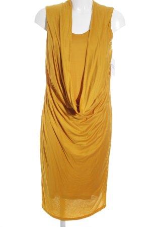 HUGO Hugo Boss schulterfreies Kleid goldorange Elegant
