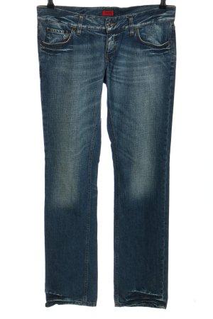 HUGO Hugo Boss Straight-Leg Jeans blau Casual-Look