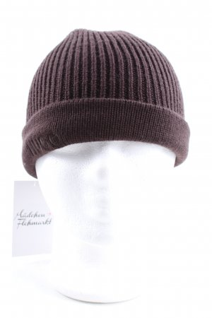 HUGO Hugo Boss Chapeau en tricot brun style décontracté