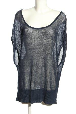 HUGO Hugo Boss Strickshirt blau Street-Fashion-Look