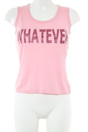 HUGO Hugo Boss Tanktop pink Schriftzug gedruckt Casual-Look