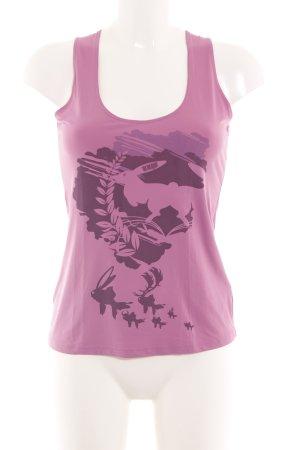 HUGO Hugo Boss Tanktop pink Motivdruck Casual-Look