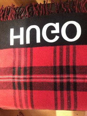 HUGO Schal rot schwarz ❤️