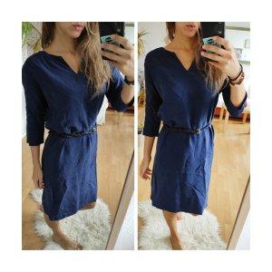 Humanoid Cupro Kleid dunkelblau S oversized kastenform