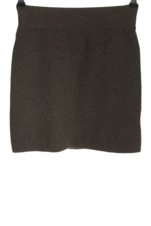 Humanoid Knitted Skirt brown flecked casual look
