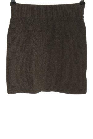 Humanoid Jupe tricotée brun moucheté style décontracté