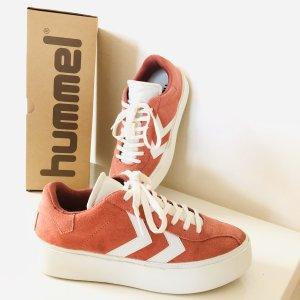 Hummel Diamant Highrise suede sneaker Gr  37 faded Rose rosa Pink weiß Schuhe
